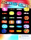 "Acrylic Ring Bands 1"" Toy Capsules 250 pcs"