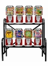 8 Classic Gumball Candy Machine Rack
