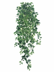 "51"" Artficial Medium Silk Philodendron Hanging Bush - Set of 6"