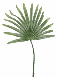 "Set of 12 - Artificial Fan Palm Branches 21"" Length"