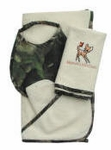 4 pc Camouflage Embroidered Baby Gift Set