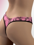 Naked North Pink Camo Lingerie Thong