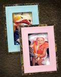 Pink or Blue Camo Leather Picture Frame