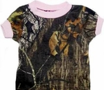 Infants or Girls Camo T-Shirt w/ Pink Trim