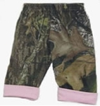 Mossy Oak Camo Girls Pants w/ Pink Trim