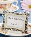 Flourish design place card/photo frames