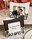 Damask design picture frames/place card holders