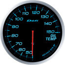 DEFI DF10403 60MM Oil Temp Blue Defi Advance BF Gauge