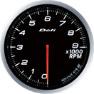 DEFI DF10701 60MM Tach 9000RPM White Defi Advance BF Gauge
