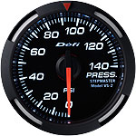 Defi 52mm White Racer Pressure Gauge