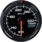 Defi 52mm White Racer Temperature Gauge