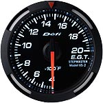 Defi 52mm White Racer Exh. Gas Temp. Gauge