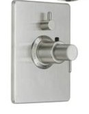 California Faucets TO-THC1L-62 Avalon Series 62 1 Function Rectangular Styletherm Thermostatic Shower Trim Only