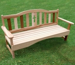 Cedar Holy Cross Garden Bench