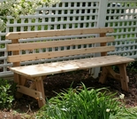 Cedar Backed Bench