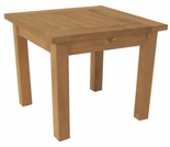 "Teak English Garden 20"" Square End Table - Out of Stock til Sept"