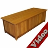 Wood Storage Bench - 5'