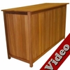 Tall Wood Storage Box - 5'