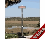 1500 Watt Stainless Steel Glass Face Offset Infrared Patio Heater