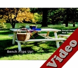 Log Picnic Table w/ Flip-Up Benches