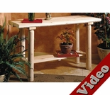 White Cedar Sofa Table