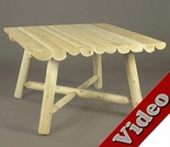 """Log Style Rustic 42"""" Dining Table"""