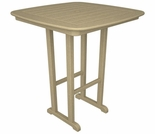 "POLYWOOD� Nautical 37"" Square Bar Table"