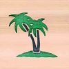 Door Mat:  Palm Trees