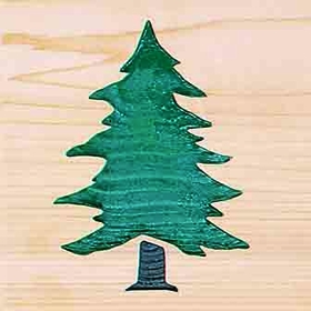 Door Mat:  Pine Tree