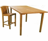 "Teak Arlington 74"" x 39"" Bar Table"