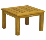 "Newport Teak Low 20"" Square Side Table"