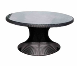 "Helena Wicker 48"" Round Table - 3 Color Options"