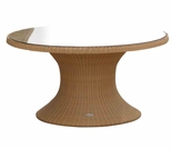 "Helena Wicker 60"" Round Table - 3 Color Options - Black only Out of Stock til Aug"
