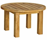 "Canterbury Teak Low 20"" Round Side Table"