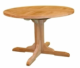"Teak Claptise 30"" or 43"" Round Dining Table"