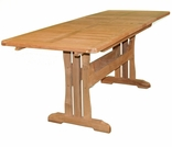 "Teak Glenora 71"" - 106"" Expansion Dining Table"