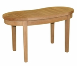 Teak Half Moon Coffee Table - Out of Stock til Dec