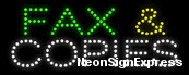 Fax & Copies LED Sign