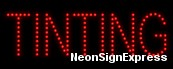 Tinting LED Sign