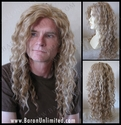 Ree -- Human Hair Synthetic BLEND Skin-top Long Man's Wig