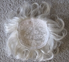 White hair top piece