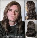 Rito --100% Human Hair Mono-PART Hair Long Man's Wig