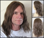 Sam --100% Human Hair Mono-top Long Man's Wig