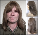 Mitch --100% Human Hair Long Man's Wig