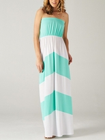 Mint Color Blocked Maternity Maxi Dress
