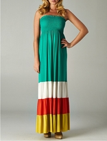 Molly Color Block Maternity Maxi Dress