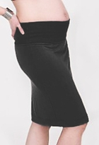 Stylish Toni Fold Over Maternity Pencil Skirt