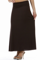 Foldover Long Maternity Skirt - Available in Black, Grey & Brown