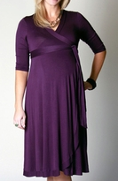 Everly Grey Maternity Kaitlyn Wrap 3/4 Sleeve Maternity Dress