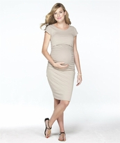 Deena Ruched Short Sleeve Maternity/Nursing Dress
